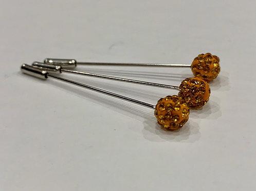 Crystal Pin Amber