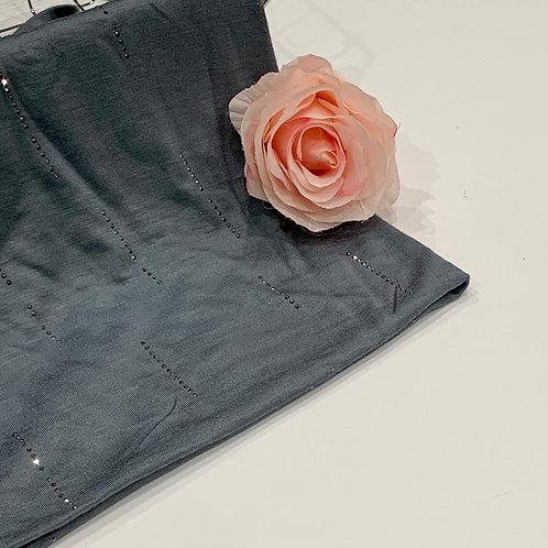 Diamond Jersey Hijab Blue Dusk