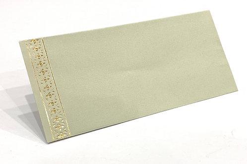 Fancy Envelope Gold Stripe Detail + Green Tea