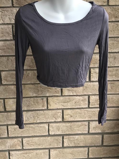 Crop Undershirt Dark Grey