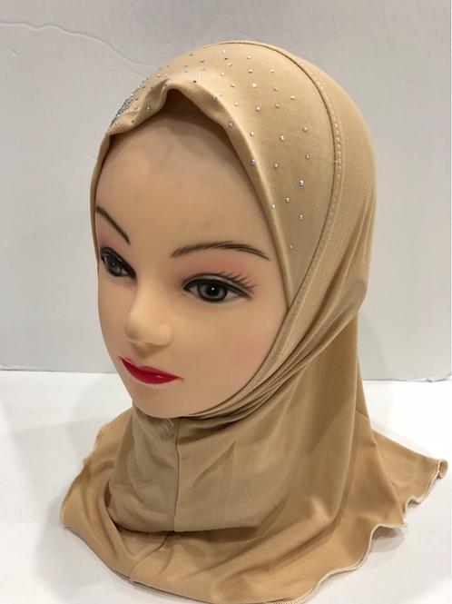 Kids Hijab Small Beige
