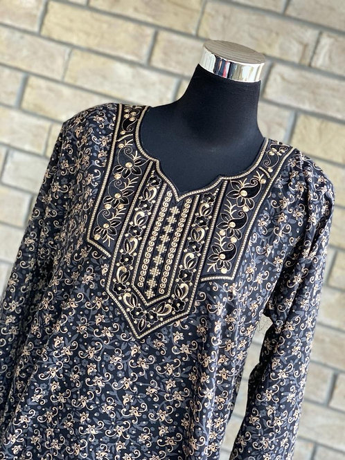 Black Kaftan/Lounge Wear