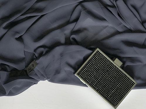 Button Chiffon Hijab Steel