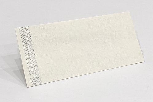 Fancy Envelope Silver Criss Cross + White