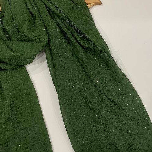Glitter Crinkle Hijab Sage