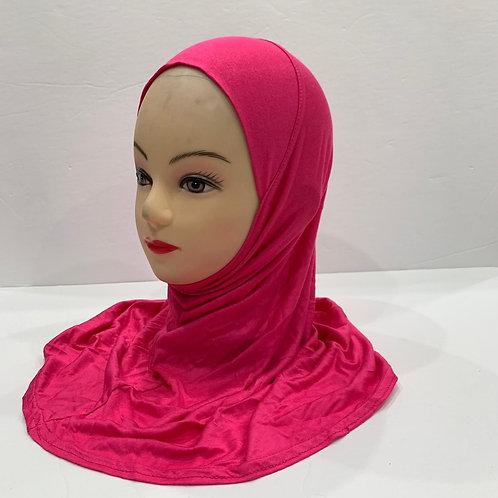 Kids Hijab Small Hot Pink
