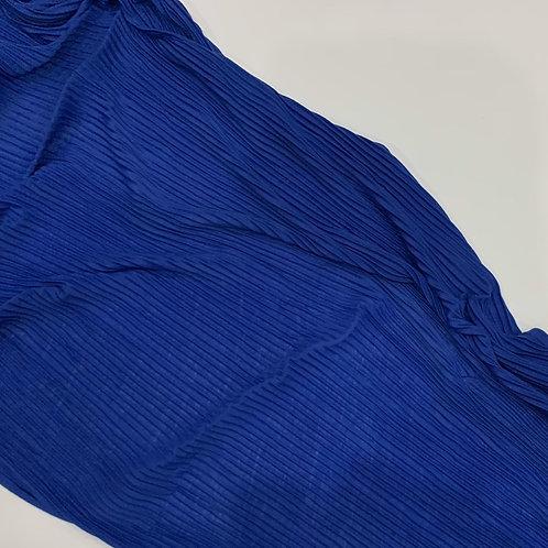 Pleated Jersey Hijab Royal Blue