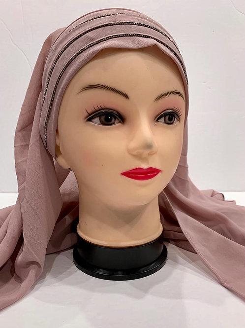 Instant Chiffon Hijab Dusty Pink