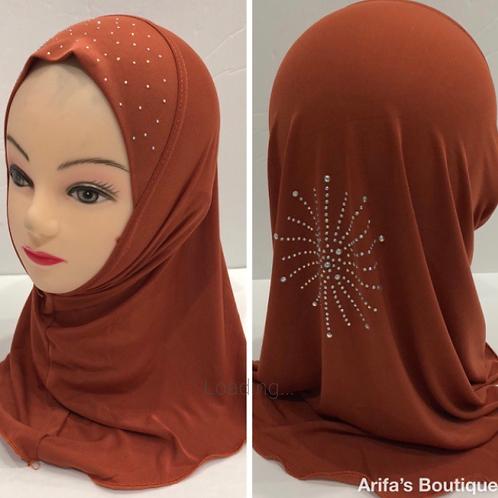 Kids Hijab Small Copper