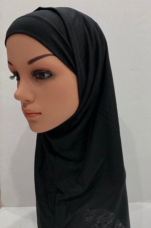 Kids  2 piece Hijab Large Black