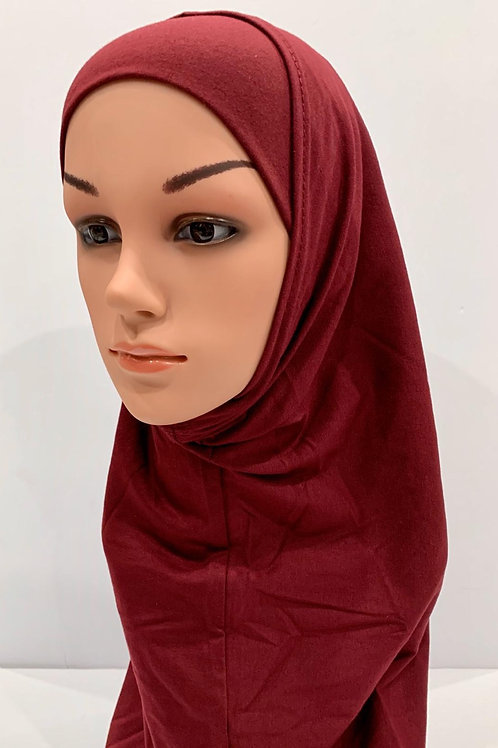 Kids 2 piece Hijab Large Burgundy