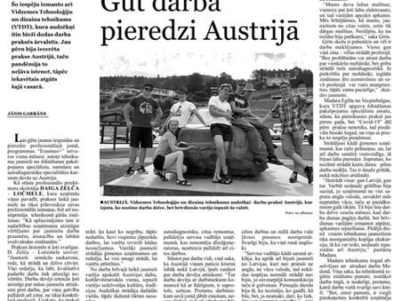 Gūt darba pieredzi Austrijā