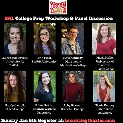 BAL College Prep Workshop & Panel Discus
