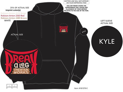 Personalized Red or Black Hooded BAL Sweatshirt