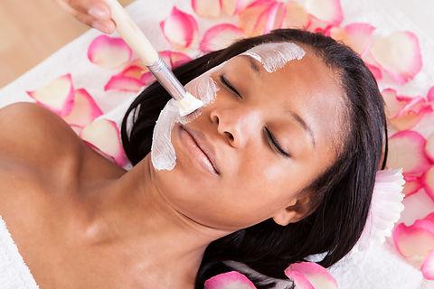Close-up Of Woman Applying Facial Mask I