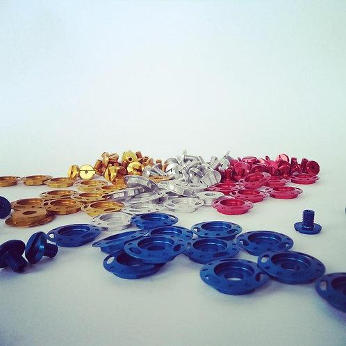 Anodized screw kits for Arai SK5/SK6/GP5/GP6