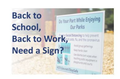 Back to School, Back to Work, Need a Sign?