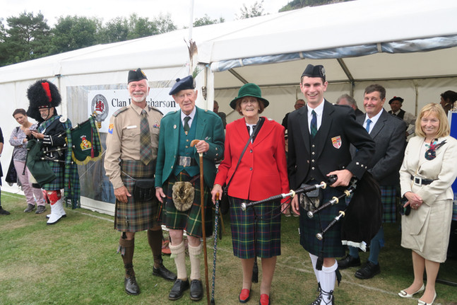 Clan Tent at the Ballater Highland Games
