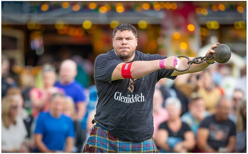 Weight for Distance at the 2019 Ballater Highland Games