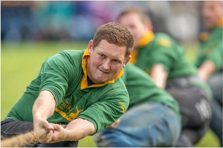 Tug o' War at the 2019 Ballater Highland Games