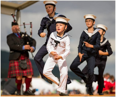 Competition Dancing at the 2019 Ballater Highland Games