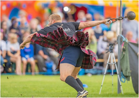 Throwing Weight for Distance at the 2019 Ballater Highland Games