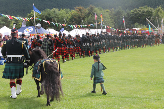 The next generation at the 2019 Ballater Highland Games