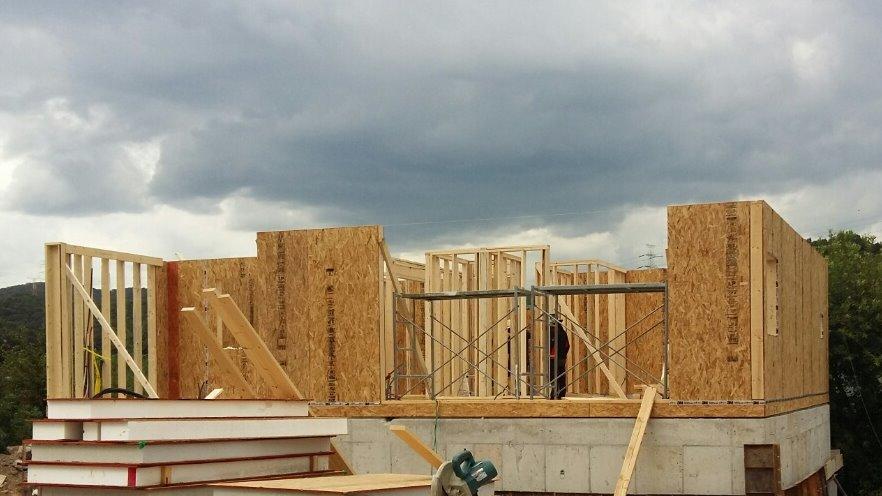 용인 고기리 주택 진행되어 갈수록 흐려지는 날씨
