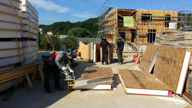 지붕을 지지해줄 SIP패널 재단