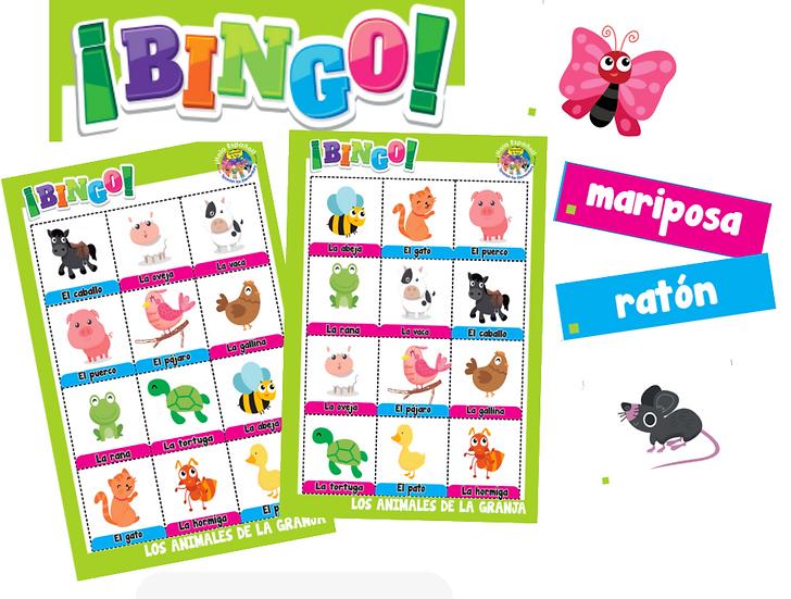 Farm Animals Digital Bingo