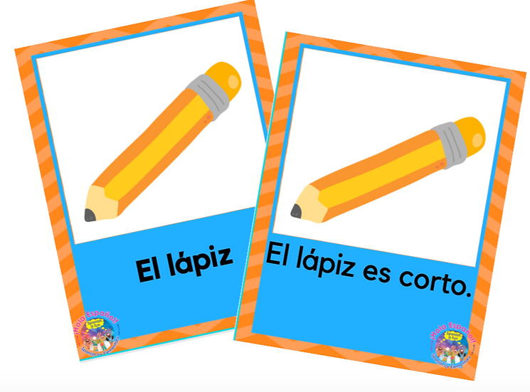 School Supplies Digital Flashcards