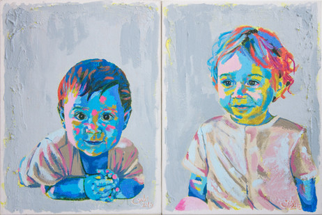 Greek Brothers Diptych
