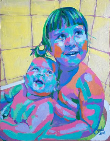 Sisters in the Bathtub