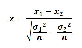 z-statistic-difference-of-two-means