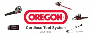 Oregon Cordless Tool System at Smith's A-1 in Muncie, Indiana: cordless chainsaws, blowers, trimmers and edgers