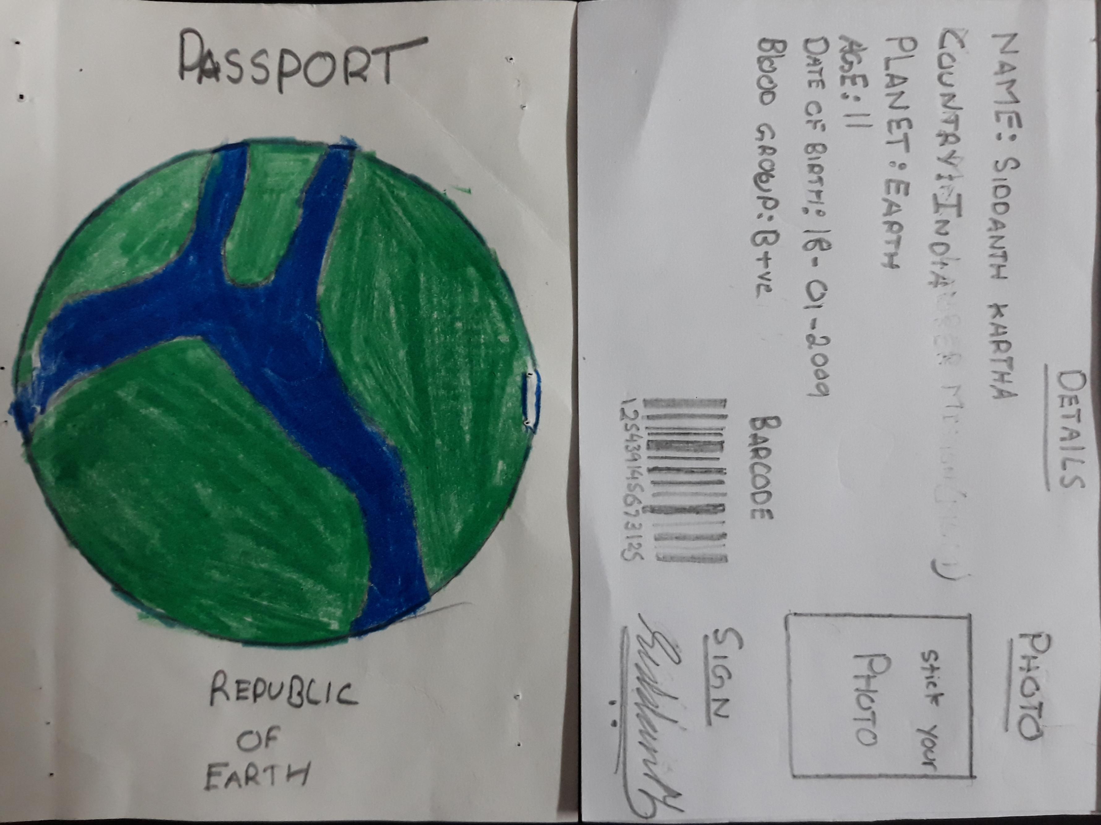 Earth Passport - Ajaykumar Kartha