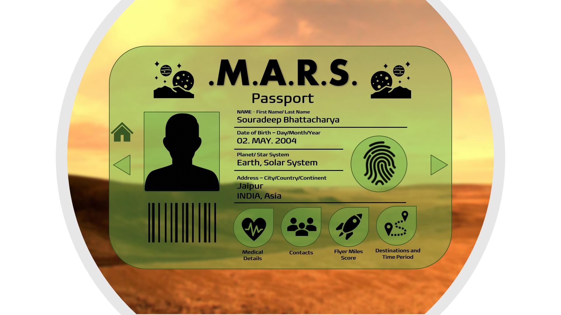 Mars passport Pic - Souradeep Bhattachar