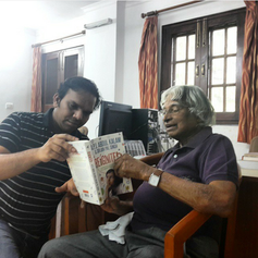 Dr. Kalam with the first copy of Reignit