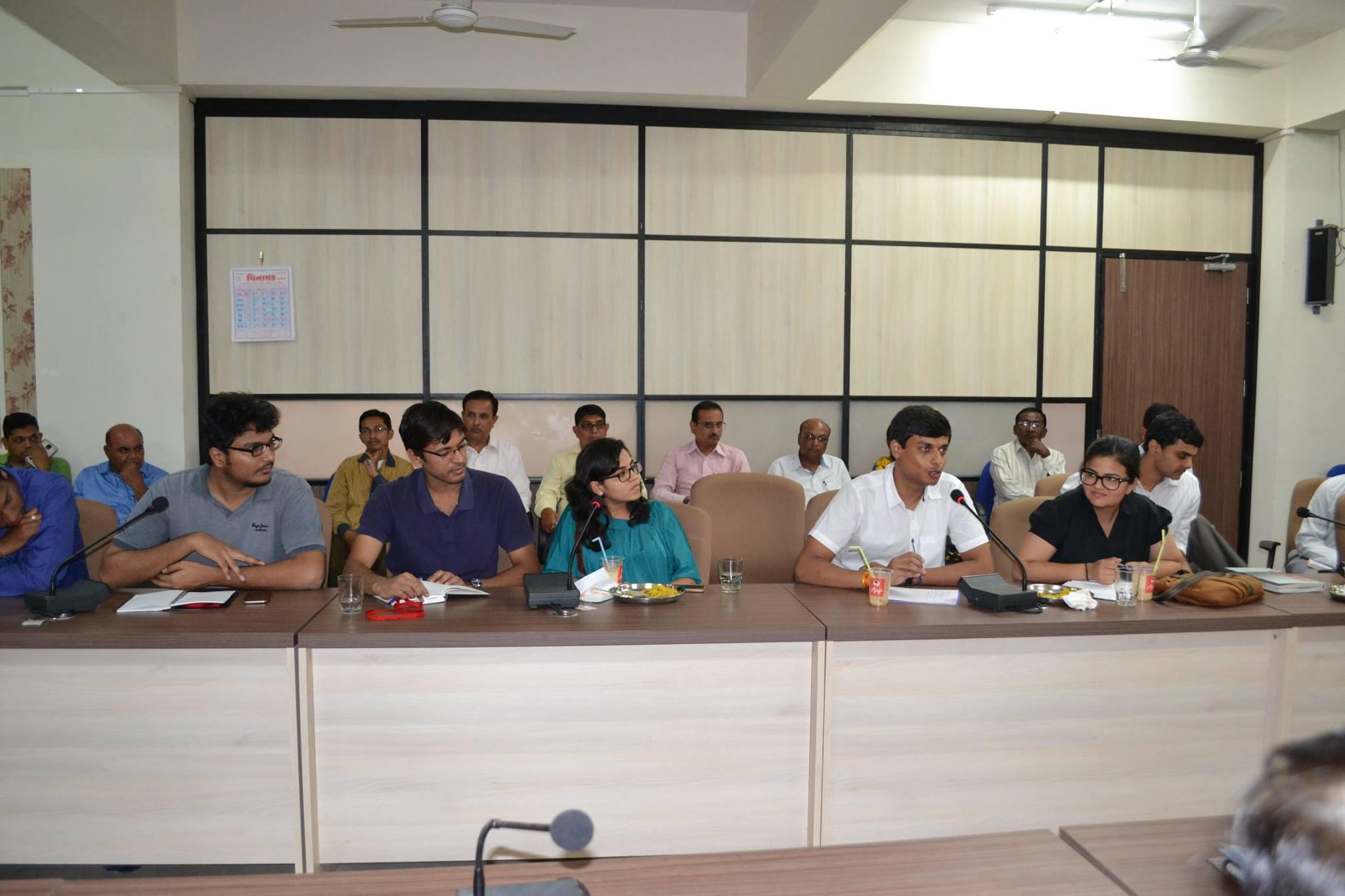 Advantage Bharat Fellows at the inductio