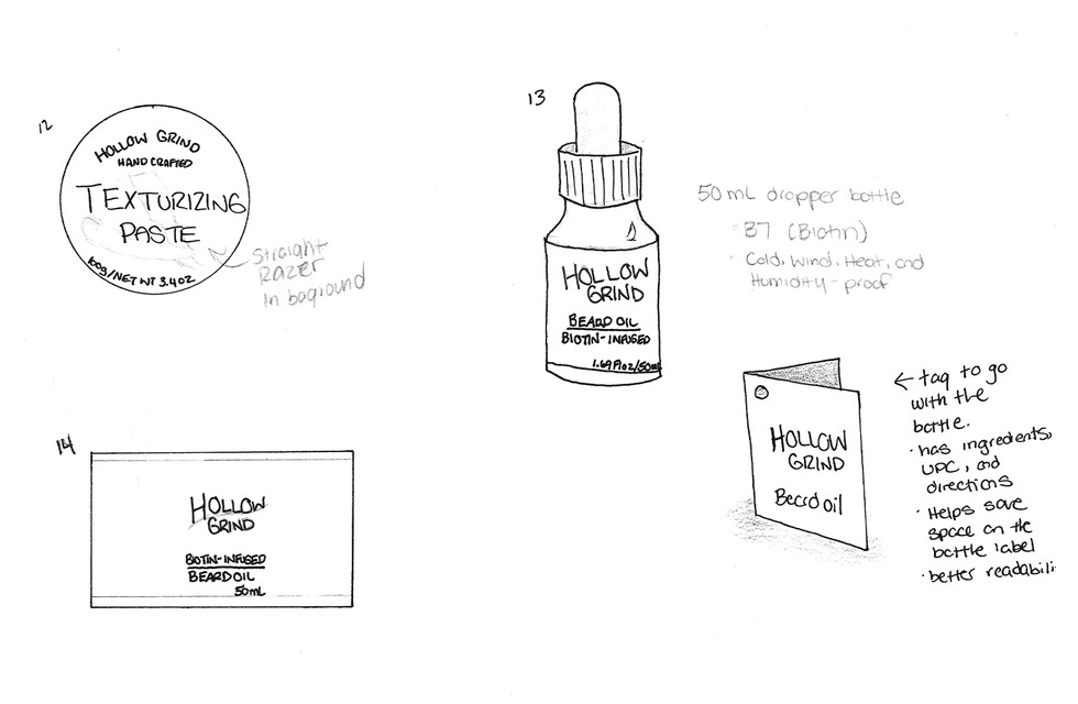 02_Sketches_Hollow Grind_Packaging Label