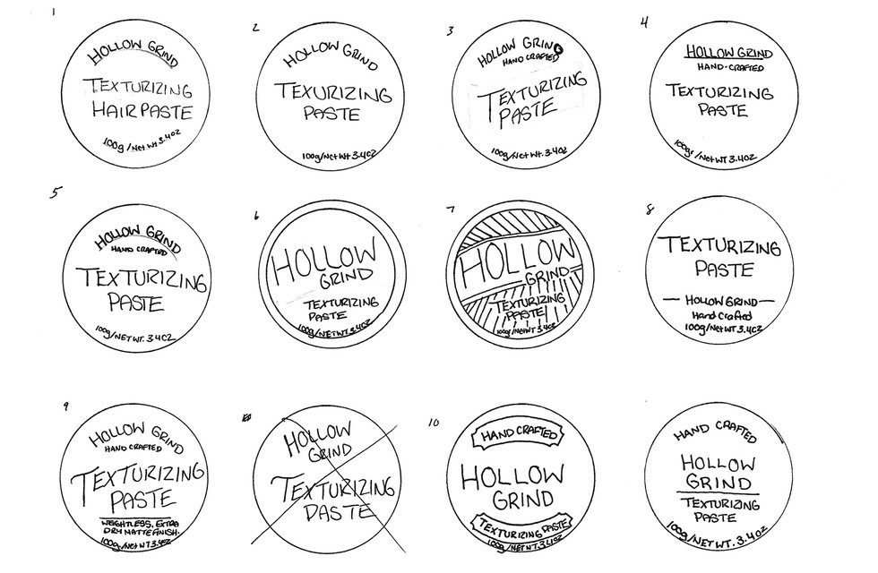 01_Sketches_Hollow Grind_Packaging Label