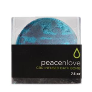 peace n love CBD infused bath bomb