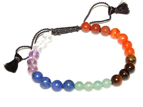 Reiki infused adjustable Chakra bracelet