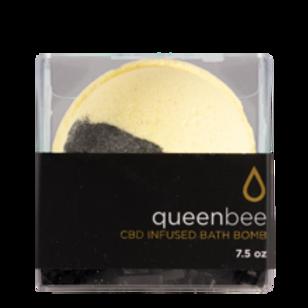 CBD infused queen bee bath bomb