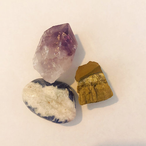 Crystal Bundle for panic attacks, over thinking, anxiety