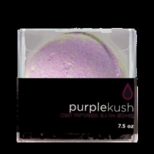 CBD infused purple kush bath bomb