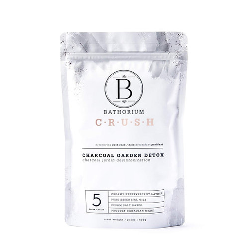 Bathorium - Charcoal garden detox bath soak