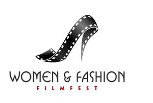 Women & Fashion Film Festival Logo: A high heel shoe created with a flowing film strip