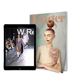 digital + print issues of Linger Magazine