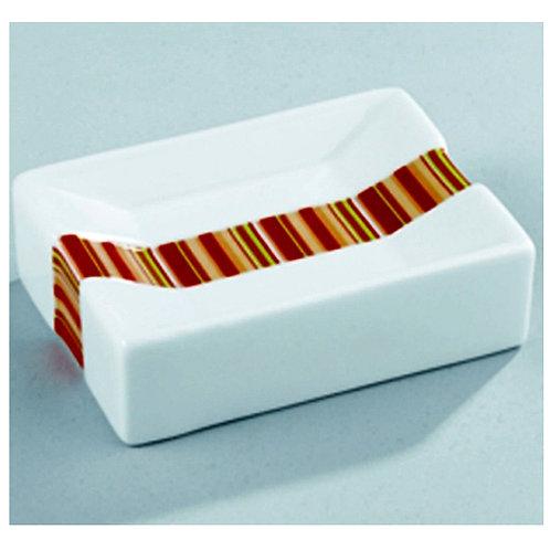 Wenko Поставка за сапун с оранжева лента